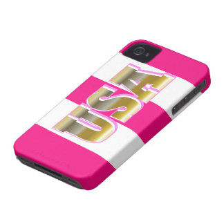 2012 Gold USA Womens Sports Pink iPhone Case Gift iPhone 4 Case