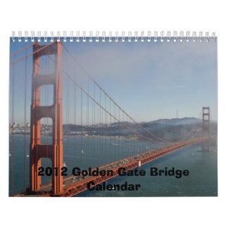 2012 GOLDEN GATE BRIDGE CALENDAR