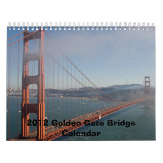 2012 GOLDEN GATE BRIDGE CALENDAR