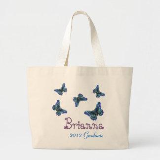 2012 Graduate Butterfly Purple Blue Bag