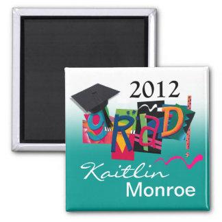 2012 Graduate - GradGear by Cheryl Daniels 2 Inch Square Magnet