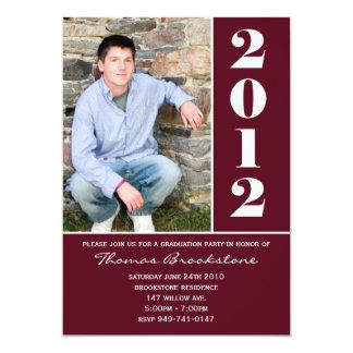 2012 Graduation Announcement Maroon