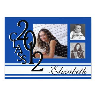 2012 Graduation Blue Tri Photo Card