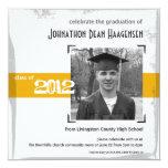 2012 Graduation Fun Gold Party Invitation