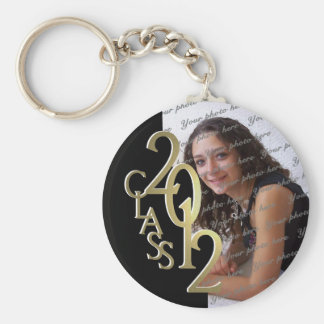 2012 Graduation Keepsake Gold and Black Keychain