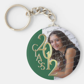 2012 Graduation Keepsake Gold and Green Keychain
