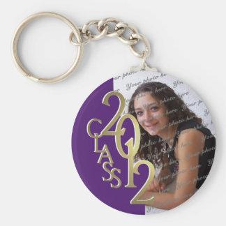 2012 Graduation Keepsake Gold and Purple Keychain