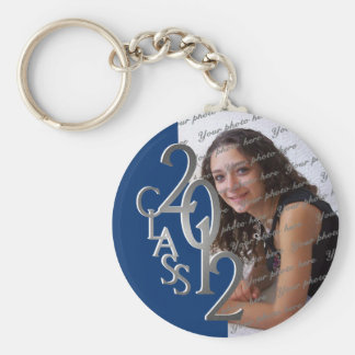 2012 Graduation Keepsake Silver and Blue Keychain