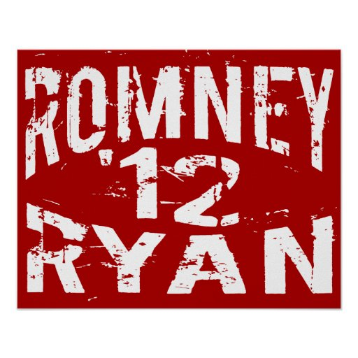 2012 Grunge ROMNEY RYAN Print