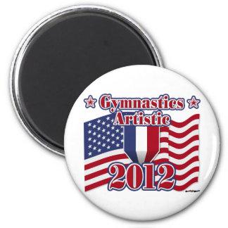 2012 Gymnastics Artistic 2 Inch Round Magnet