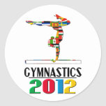 2012: Gymnastics Classic Round Sticker