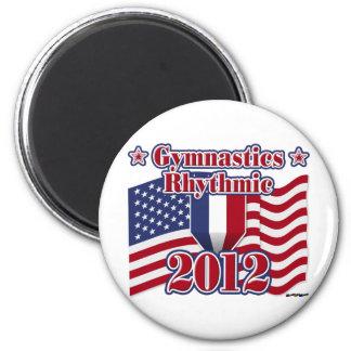 2012 Gymnastics Rhythmic 2 Inch Round Magnet