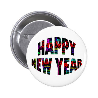 2012 Happy New Year Word Collage Buttons