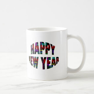 2012 Happy New Year Word Collage Coffee Mugs