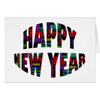 2012 Happy New Year Word Collage Greeting Card