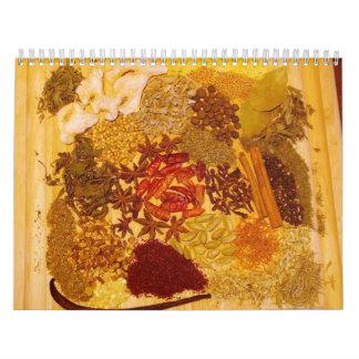 2012 hierbas y especias calendarios