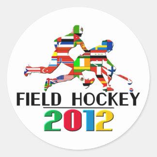 2012: Hockey hierba Etiquetas Redondas