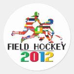 2012: Hockey hierba Pegatina Redonda