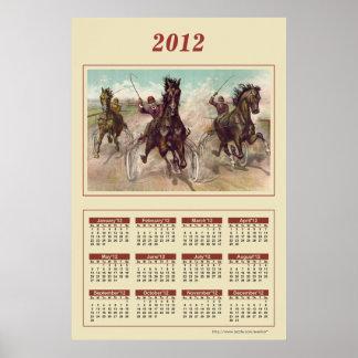 2012 Horses Calendar Poster