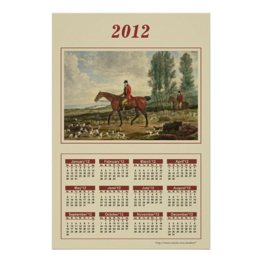 2012 Huntsman Calendar Poster
