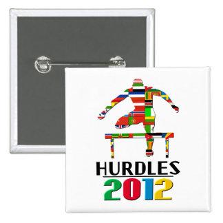 2012: Hurdles Pinback Button