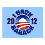 2012 I BACK BARACK POSTCARDS