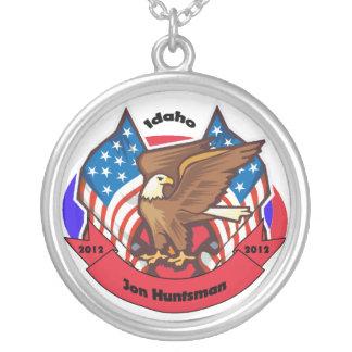 2012 Idaho for Jon Huntsman Silver Plated Necklace