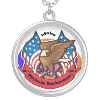 2012 Idaho for Michele Bachmann Round Pendant Necklace