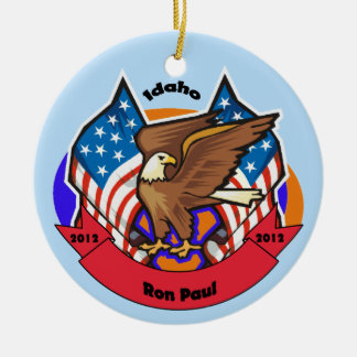 2012 Idaho for Ron Paul Ceramic Ornament