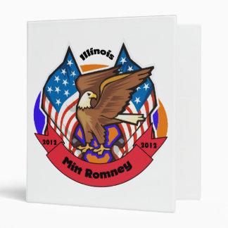 2012 Illinois for Mitt Romney 3 Ring Binder