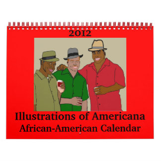 2012 Illustrations of Americana African-American Calendars