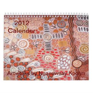 2012 ilustraciones del calendario de Nganuwaay Koo