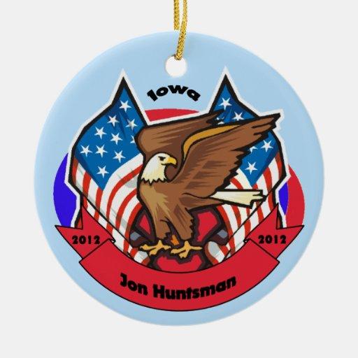 2012 Iowa for Jon Huntsman Double-Sided Ceramic Round Christmas Ornament