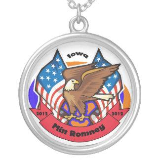 2012 Iowa for Mitt Romney Round Pendant Necklace