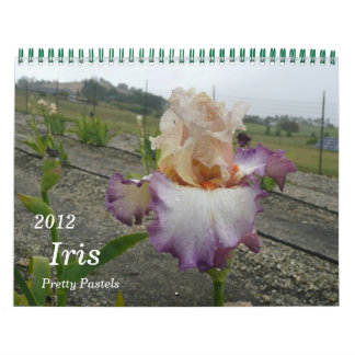 2012, Iris Calendar, Pretty Pastels