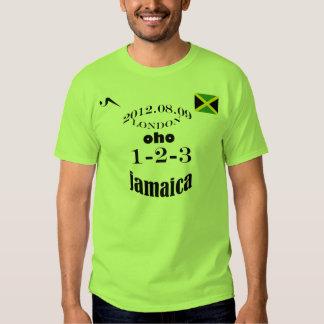 2012 Jamaica 1 2 3 Olympic Tshirt
