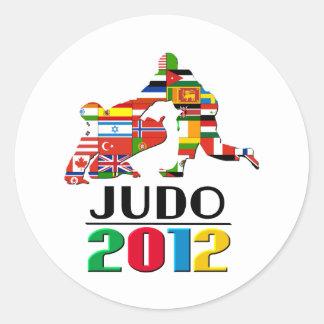 2012: Judo Classic Round Sticker