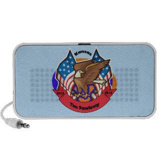 2012 Kansas for Tim Pawlenty iPod Speakers