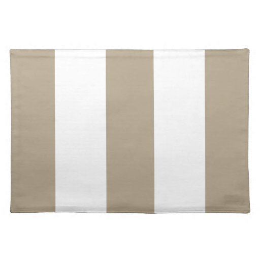 2012 Khaki & White Stripe Placemat Gift