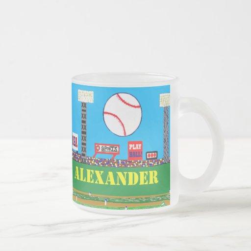 2012 Kids Sports Baseball Glass Mug Cute Gift