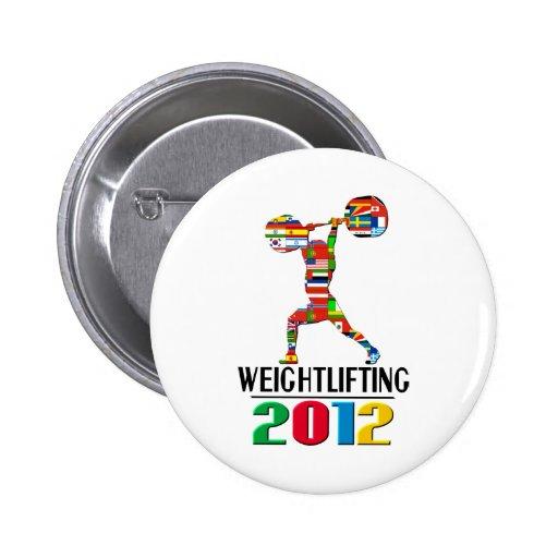 2012: Levantamiento de pesas Pins