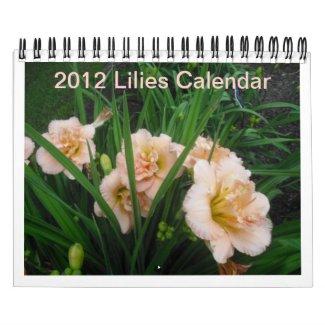 2012 Lilies Calendar calendar