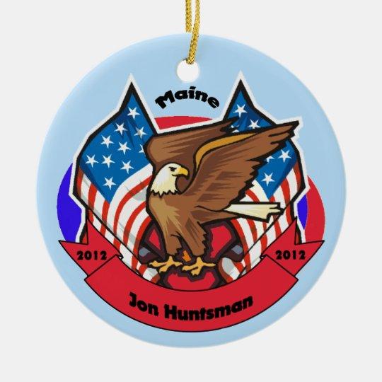 2012 Maine for Jon Huntsman Ceramic Ornament