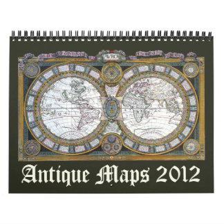 2012 mapas antiguos calendarios