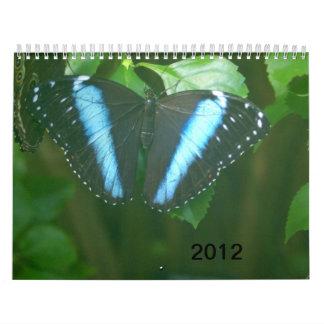 2012 mariposas calendarios de pared