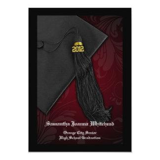 2012 Maroon Tassel Charm Graduation Announcement