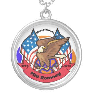 2012 Massachuetts for Mitt Romney Round Pendant Necklace