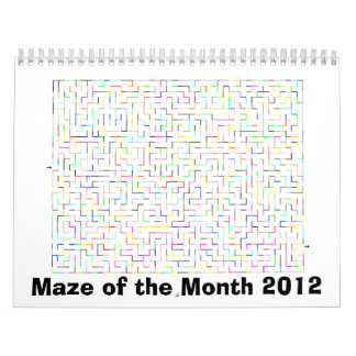 2012 Maze of the Month Calendar