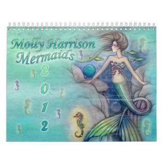 2012 Mermaid Calendar by Molly Harrison