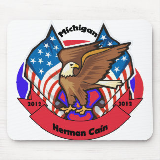 2012 Michigan for Herman Cain Mouse Pad